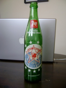 1978 MLB All-Star Game 7-Up Bottle