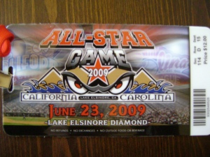 Single A All-Star Game Ticket