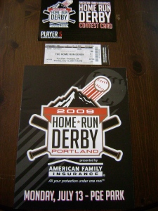 '09 Triple A Home Run Derby Program & Ticket