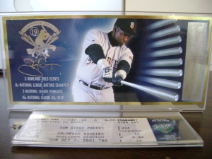 Tony Gwynn Last Game Ticket
