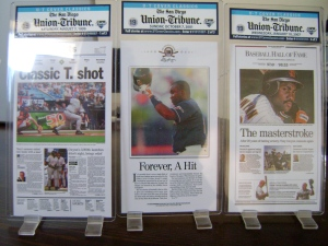 SDUT Mini Tony Gwynn Newspapers