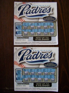Padres Lotto Tickets