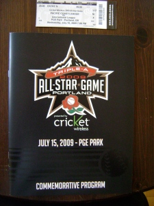 Triple A All-Star Game Program & Ticket