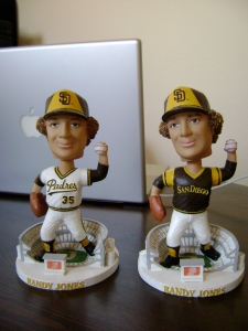 Randy Jones Home/Away Bobbleheads (Front)