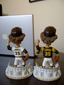 Randy Jones Home/Away Bobbleheads (Back)