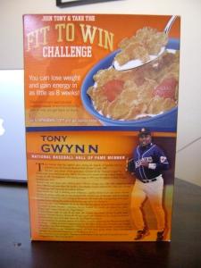 Tony Gwynn Wheaties HOF (Back)
