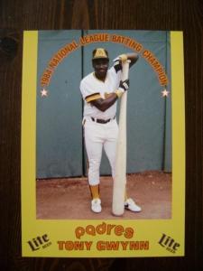 '84 Gwynn Miller Lite Card (Front)